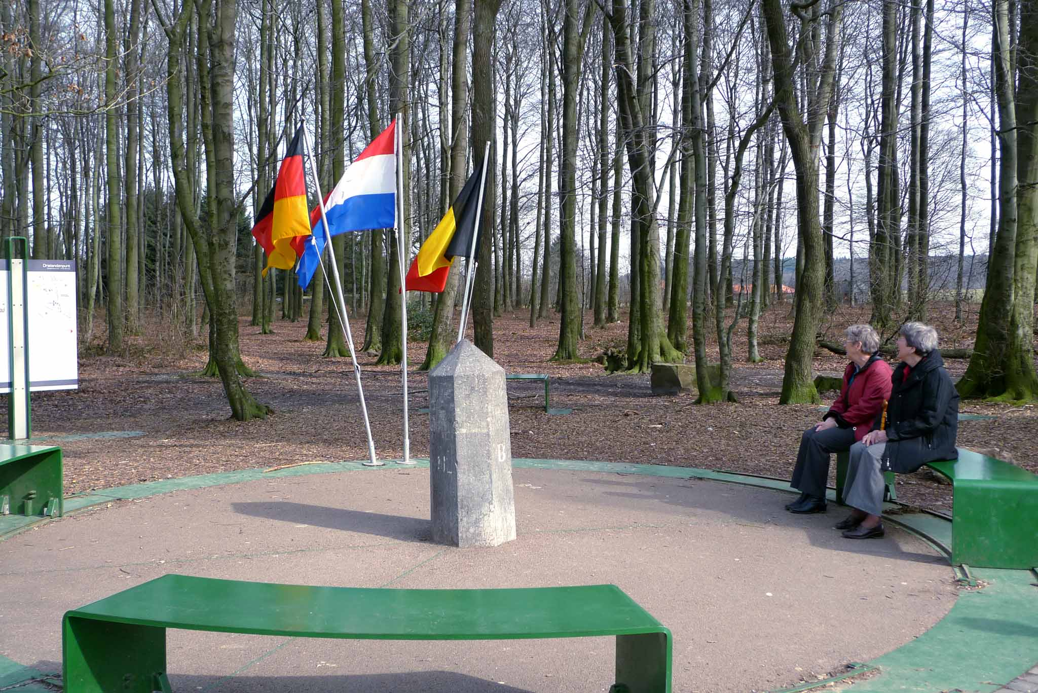 The tri-point border of Germany, Belgium and Netherlands.